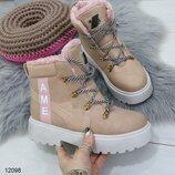 Стильные зимние ботинки, арт.12098
