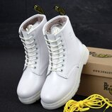 Зимние женские ботинки Dr.Martens White. Ботинки Др Мартинс.