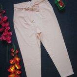 Потрясающие стильные пудровые брюки мом с поясом бантом высокая посадка Pieces Accessories