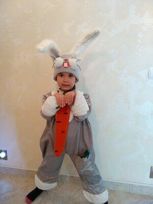 Прокат карнавальный костюм Зайчик зайки, зайца, зайчика на 2-4 года на утренник для девочки Киев