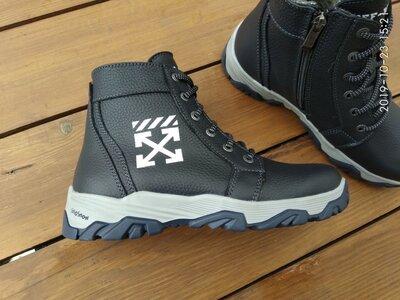 Кожаные зимние подростковые ботинки 36-40 размеры