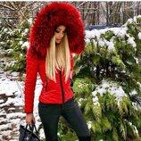 Куртка Дутик с натуральным мехом финского енота
