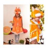 Новогодний костюм Лиса Лисичка на возраст 3-7 лет.
