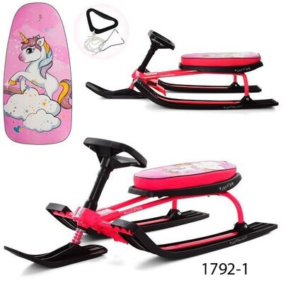 Снегокат Профи MS детский с рулем profi санки снежный скутер
