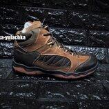Стильные зимние кожаные ботинки