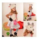 Новогодний костюм Козочка Коза на возраст 3-7 лет.
