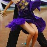 платье для танцев латина на 12-15лет танцевальное платье латина