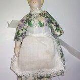 Колекционная винтажная фарфоровая куколка кукла фарфор дефект по типу шакман в кукольный домик рест