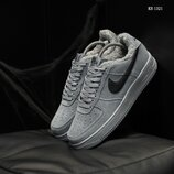 Бесплатная доставка. Топ качество. Зима. Кроссовки Nike Air Force 1 07 Mid LV8 серые KS 1321