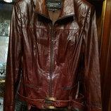 Giannetti куртка натуральная кожа, цвет коньяк