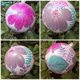 Петриківка, новорічні кульки, новогодние шары, украшения на елку