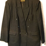 Мужской утепленный костюм пиджак 3XL-4XL наш 58-60-62р мужские брюки большой размер 100% шерсть