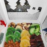 Подарок на Новый год, коллегам, друзьям, родственникам, орехи, сухофрукты, цукаты