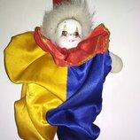 Интерьерная коллекционная винтажная фарфоровая кукла клоун скоморох Германия фарфор
