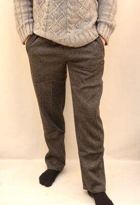 Мужские брюки трикотажные на флисе