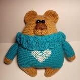 Мягкая игрушка медведь в свитере