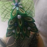 Новогодняя елочка,обруч к новогоднему костюму елочка