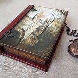 Шкатулка-Книга для бижутерии Прага , ручная работа