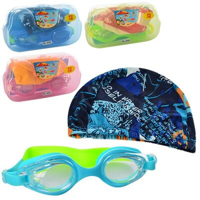 Набор для плавания MSW 033, очки, шапочка