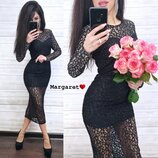 женское нарядное платье кружевной трикотаж с люрексом мг 8464