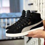 Мужские зимние ботинки кроссовки Puma Suede.