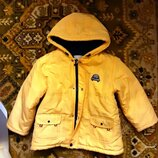 Детская куртка детская желтая Happy Baby. р 110. Осень-Зима.
