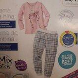 Lupilu. Хлопковая пижама с фланелевыми штанами 86-92 рост