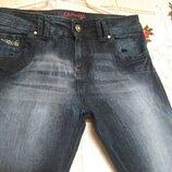 Супер джинсы синего цвета denim р.14,99%коттон,1%эластан.