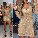 Красивое платье с пайеткой