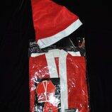Новый костюм Санта-Клауса из Голландии размер S-M на подарок мужской