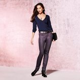 Стильні брюки з покриттям slim fit від TCM Tchibo 42р