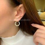 Женские серебряные серьги пусеты с камешком, жіночі срібні сережки пусети