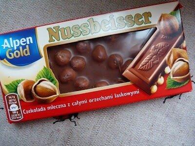 Молочный шоколад Nussbeisser Alpen Gold, 100г Польша