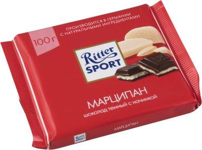 Ritter Sport- Черный шоколад с марципаном, 100 гр.