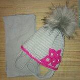 Шапка и шарф, зимний комплект