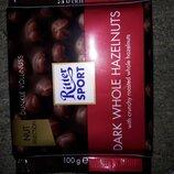 Ritter Sport - черный шоколад с цельными лесными орехами, 100 гр