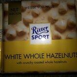Ritter Sport - Белый шоколад с цельными лесными орехами, 100 гр