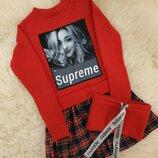 Тёплое модное платье для девочек р.122-140см