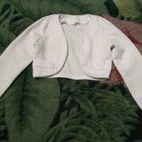 Белое болеро,можно в школу или для нарядного платья