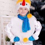 Новогодний детский костюм снеговика