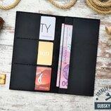 Купюрник кошелек кожаный ручная работа, клатч travel case