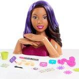 just play Barbie Барби манекен голова для причесок и маникюра 62586 Deluxe Styling Head Color Cut an