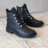 Стильные зимние ботинки/ натуральная кожа
