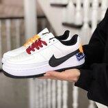 Nike Air Force 1 Jester XX кроссовки женские демисезонные белые с черным 8763