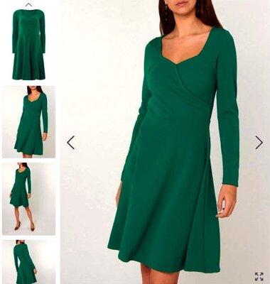 Платье на осень,декольте на запах от Doroty Perkins с бирками