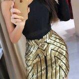 Очень красивая и нарядная юбка с пайетками