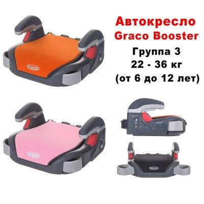 Автокресло бустер Graco Booster. Группа 3. 22-36 кг.
