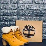 Женские зимние ботинки на каблуке Натуральная кожа/овчина