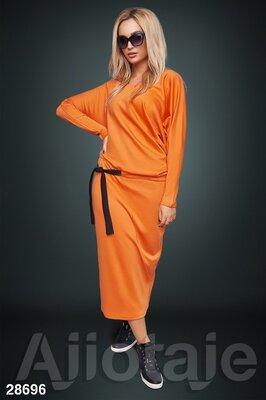Платье макси с заниженной талией 28696 цвета