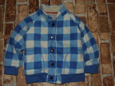 рубашка мальчику флис на меху 3-4 года M&S